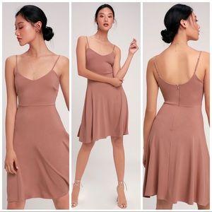 Lulus Mauve Pink Skater Dress
